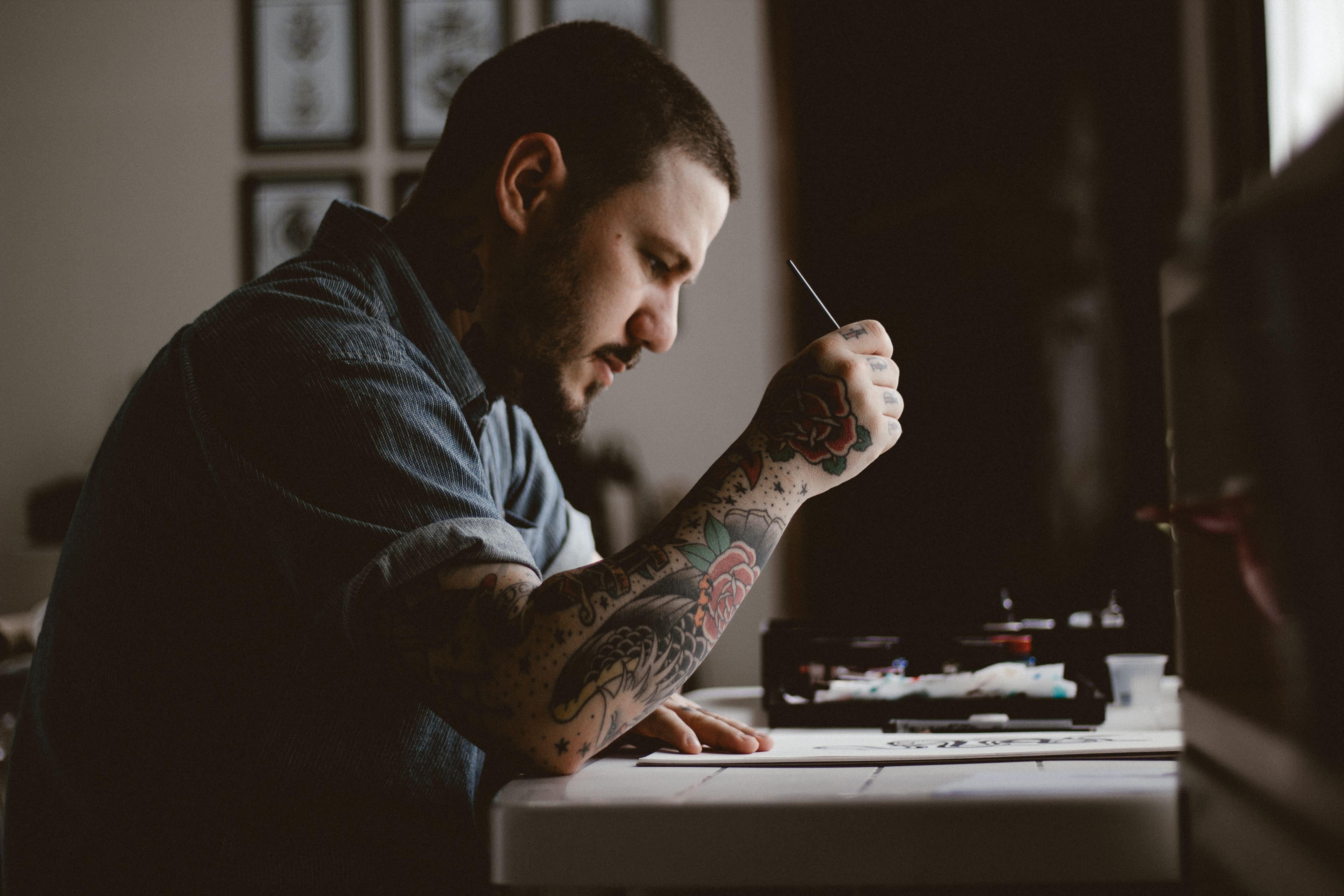 Man's creative process